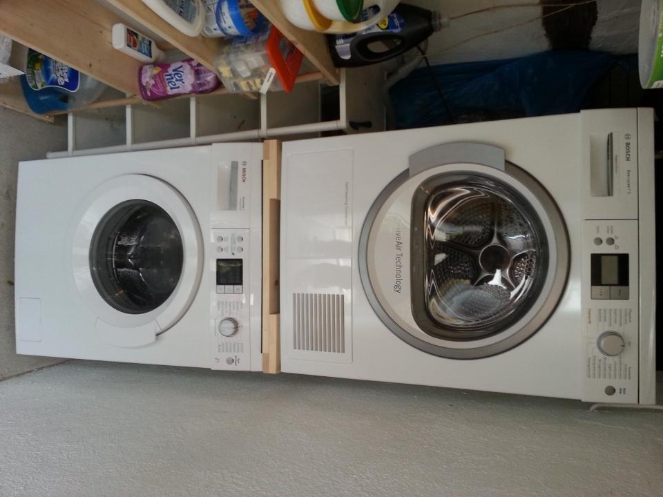 Herstellung einer waschmaschinen trockner säule bauanleitung zum