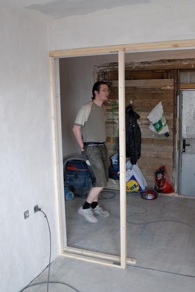 glasschiebet r in der wand bauanleitung zum selberbauen 1 2 deine heimwerker community. Black Bedroom Furniture Sets. Home Design Ideas