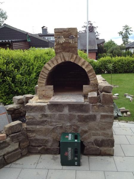 Backofen Pizzaofen Im Garten Mit Hochbeet Bauanleitung Zum