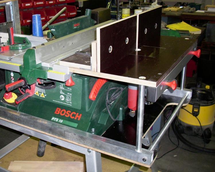 Gut gemocht Tischkreissäge PTS 10 kombiniert mit Frästisch - Bauanleitung zum QS87