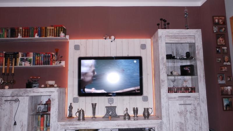 Gut bekannt TV Rückwand mit LED Beleuchtung - Bauanleitung zum Selberbauen - 1 KK74