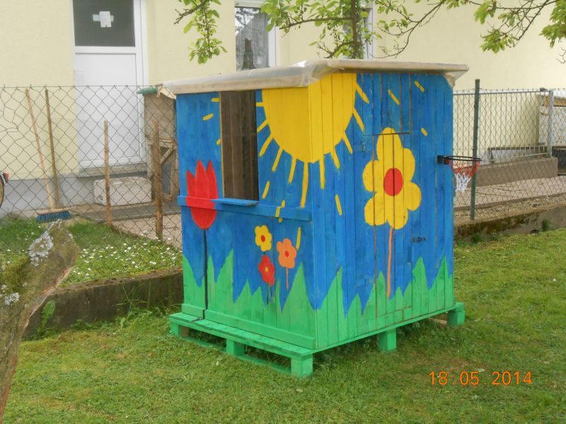 Spielhaus Fur Kinder Oder Recyceln Von Paletten Bauanleitung Zum