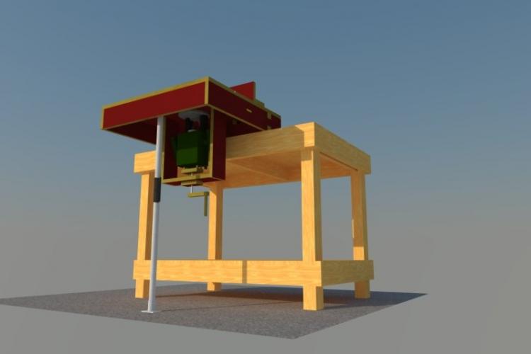 mobiler fr stisch f r pof 1400 bauanleitung zum selberbauen 1 2 deine heimwerker. Black Bedroom Furniture Sets. Home Design Ideas
