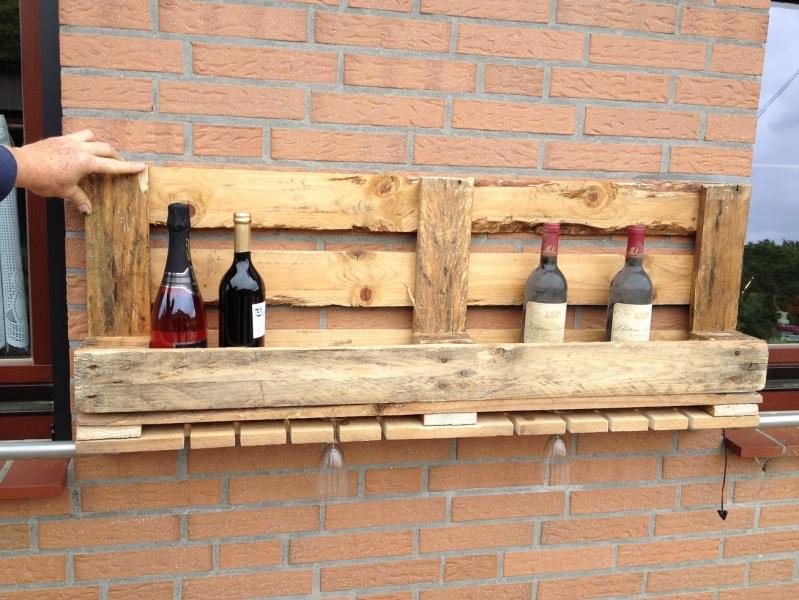 Weinregal Aus Einer Palette Mit Glashalter Bauanleitung Zum Selberbauen 1 2 Do Deine Heimwerker Community
