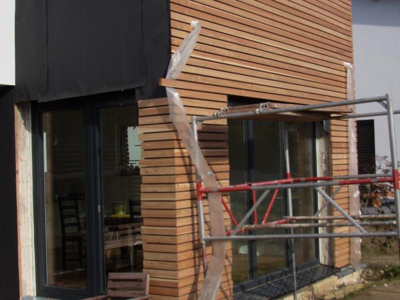 fasadenverkleidung haus mit l rchenholz bauanleitung zum. Black Bedroom Furniture Sets. Home Design Ideas