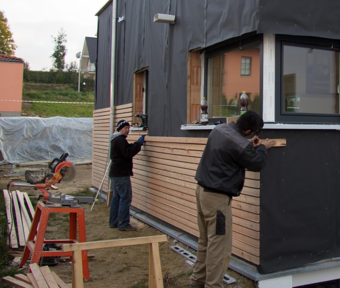 fasadenverkleidung haus mit lärchenholz - bauanleitung zum