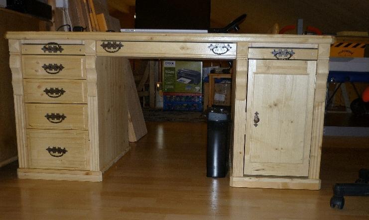 Schreibtisch Im Landhausstil Bauanleitung Zum Selberbauen 1 2