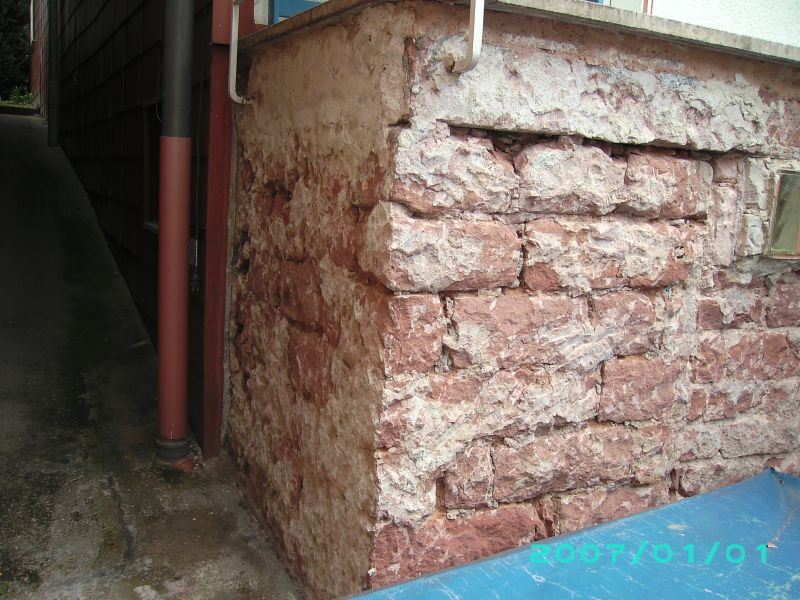 Berühmt Freilegung Sandstein-Kellermauer - Bauanleitung zum Selberbauen AN69