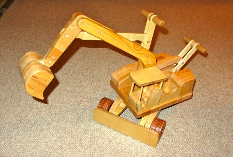 Kinder Holzspielzeug Bagger Bauanleitung Zum Selberbauen