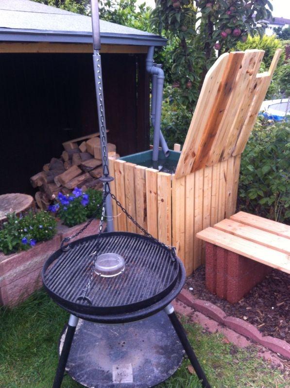 Regentonne Mit Holz Verkleiden Bauanleitung Zum Selberbauen 1 2
