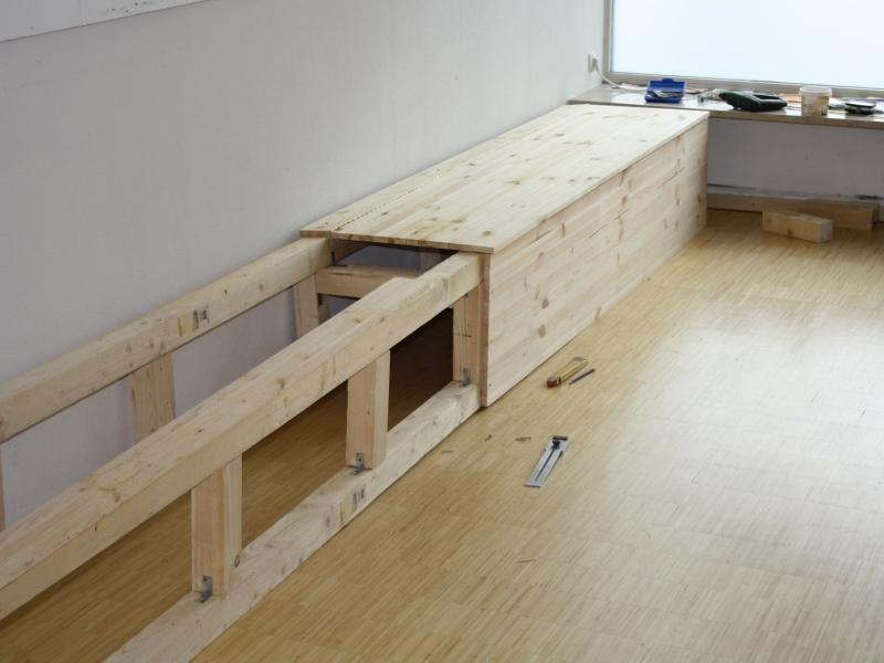 Wenn man stauraum braucht bauanleitung zum for Holz sitzbank selber bauen