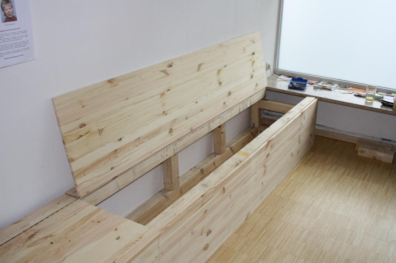 bauanleitung sitzbank mit truhe selber bauen, sitzbank mit stauraum selber bauen #6436 | made house decor, Design ideen