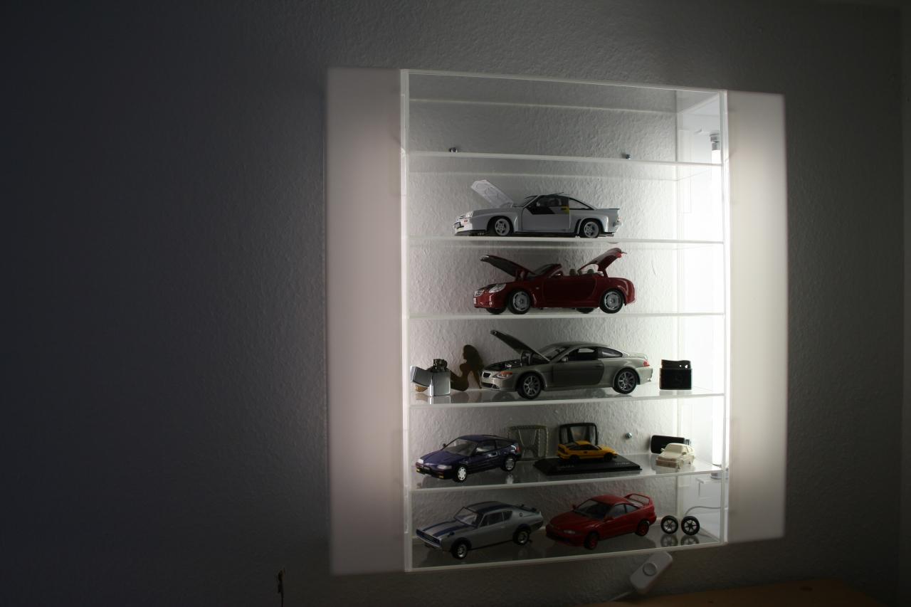 vitrine aus plexiglas mit integrierter beleuchtung - bauanleitung