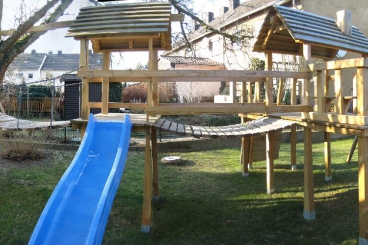 Klettergerüst Bauanleitung : Klettergerüst mit wackelbrücke bauanleitung zum selberbauen