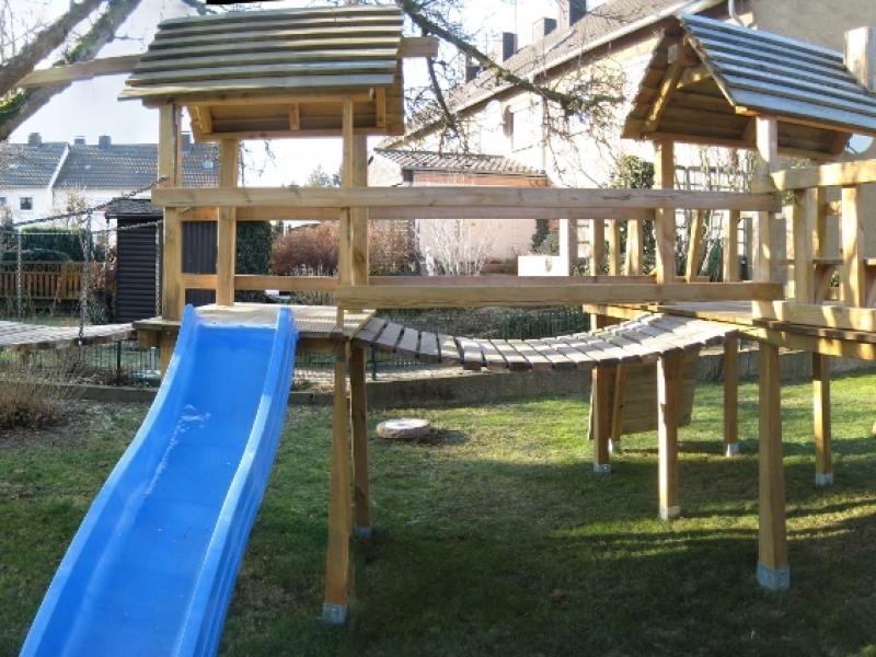 Klettergerüst Selbst Gebaut : Klettergerüst mit wackelbrücke bauanleitung zum selberbauen 1 2