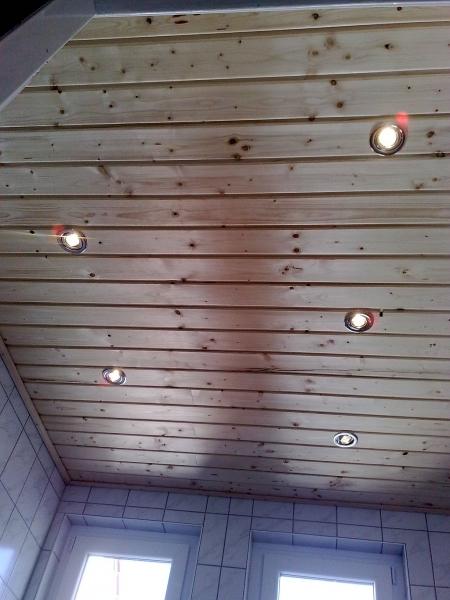 Extrem Badezimmerdecke mit Holz verkleiden - Bauanleitung zum Selberbauen TU05