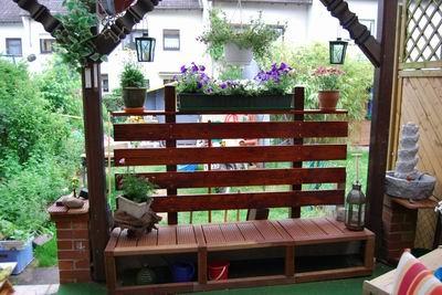 Sitzbank Und Sichtschutz Auf Der Terrasse Bauanleitung Zum