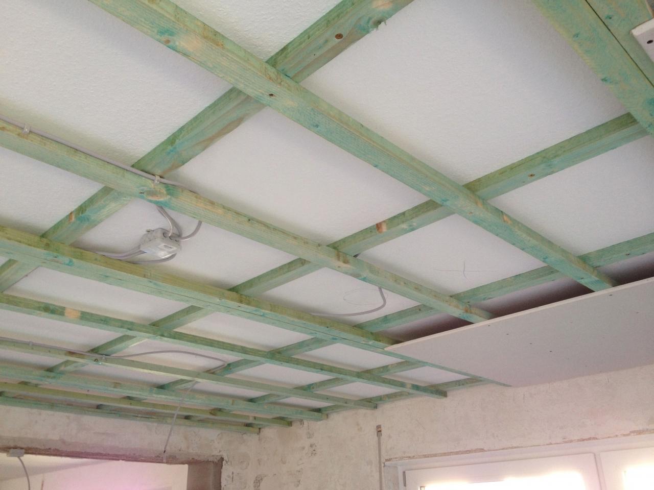 wohnzimmerdecke abhängen und lichtinstallation - bauanleitung zum