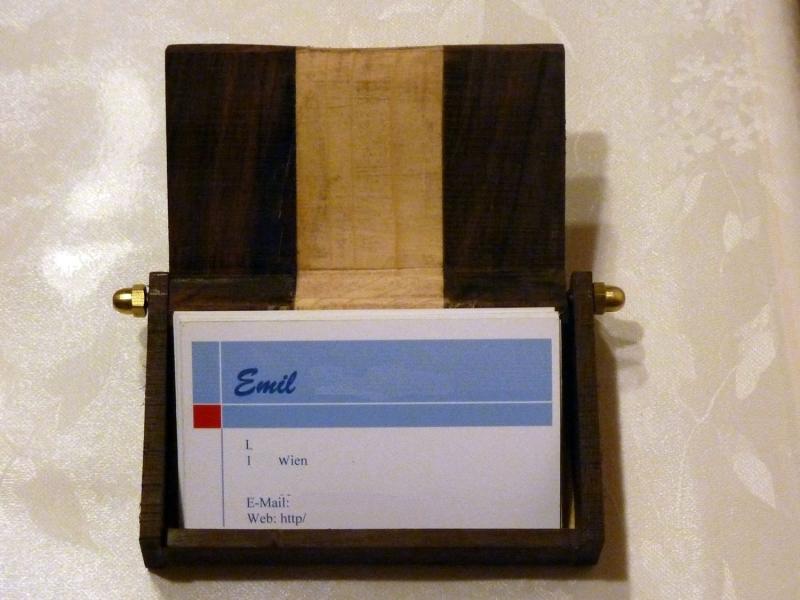 Eigenentwurf Visitenkartenbox Bauanleitung Zum Selberbauen