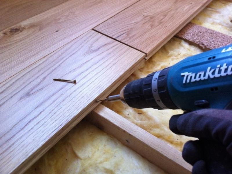 Holzfußboden Selber Verlegen ~ Massivholzdielen im altbau verlegen bauanleitung zum selberbauen