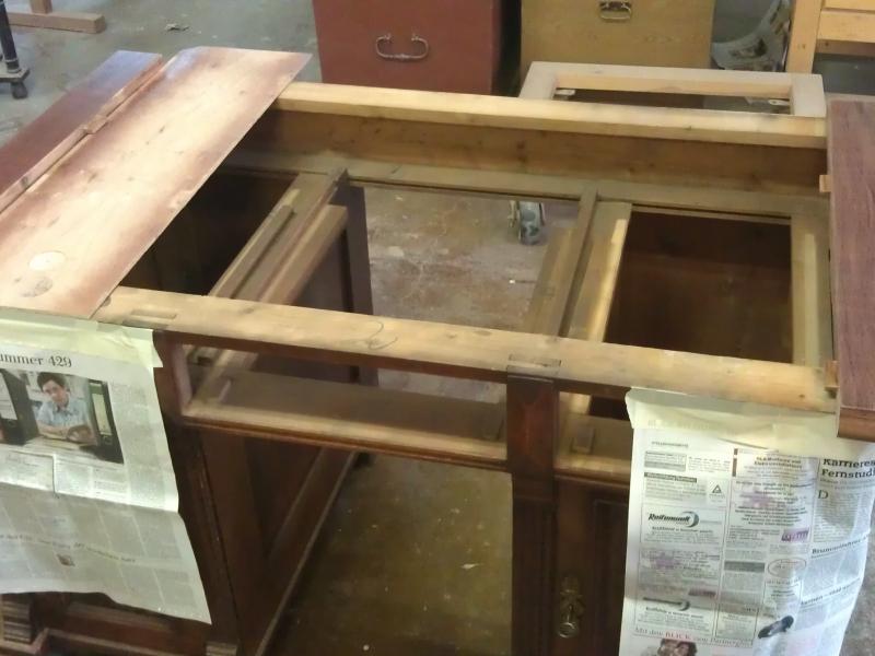 restaurierung antiker sekret r schreibtisch bauanleitung zum selberbauen 1 2. Black Bedroom Furniture Sets. Home Design Ideas