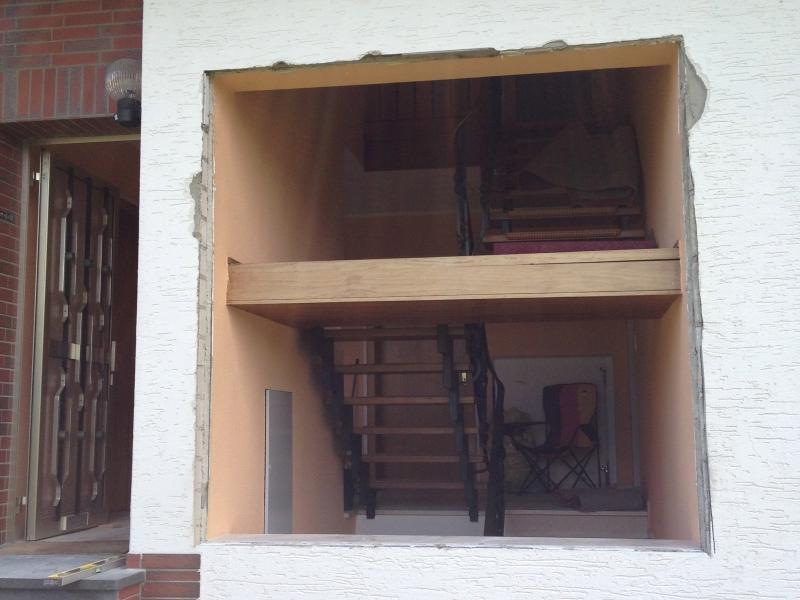 glasbausteine durch richtige fenster ersetzen bauanleitung zum selberbauen 1 2. Black Bedroom Furniture Sets. Home Design Ideas