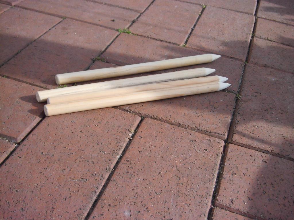 wikingerschach oder auch kubb - bauanleitung zum selberbauen - 1-2