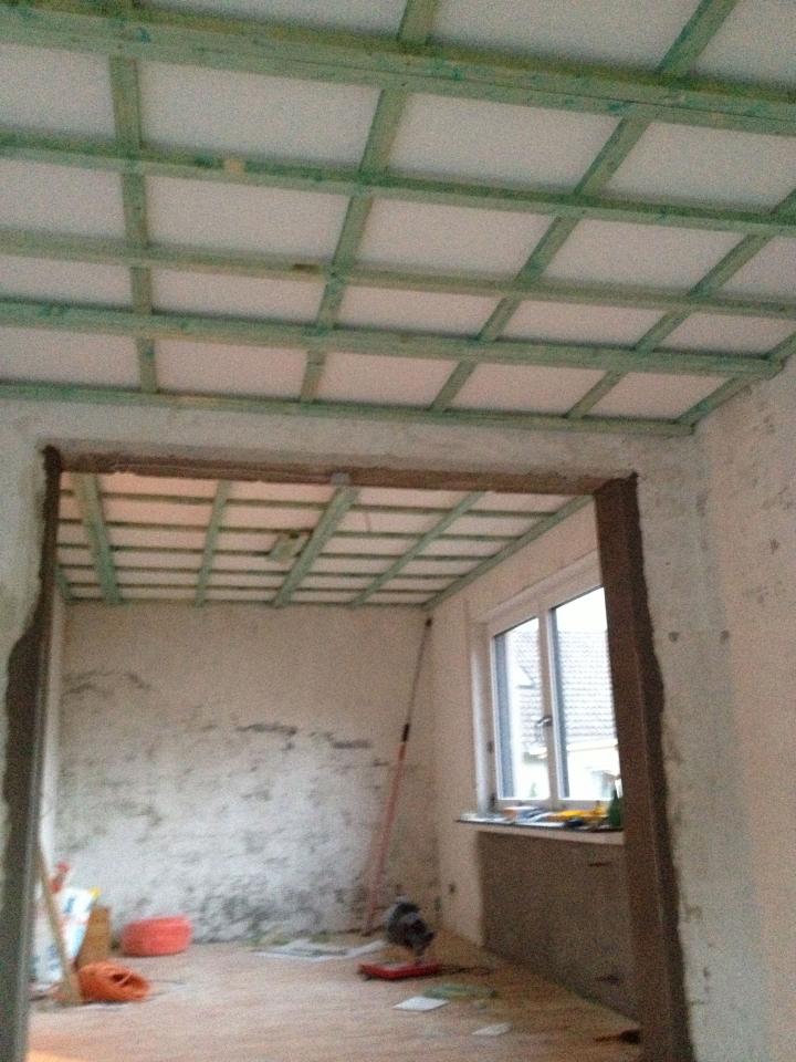 Gut gemocht Wohnzimmerdecke abhängen und Lichtinstallation - Bauanleitung zum VU58