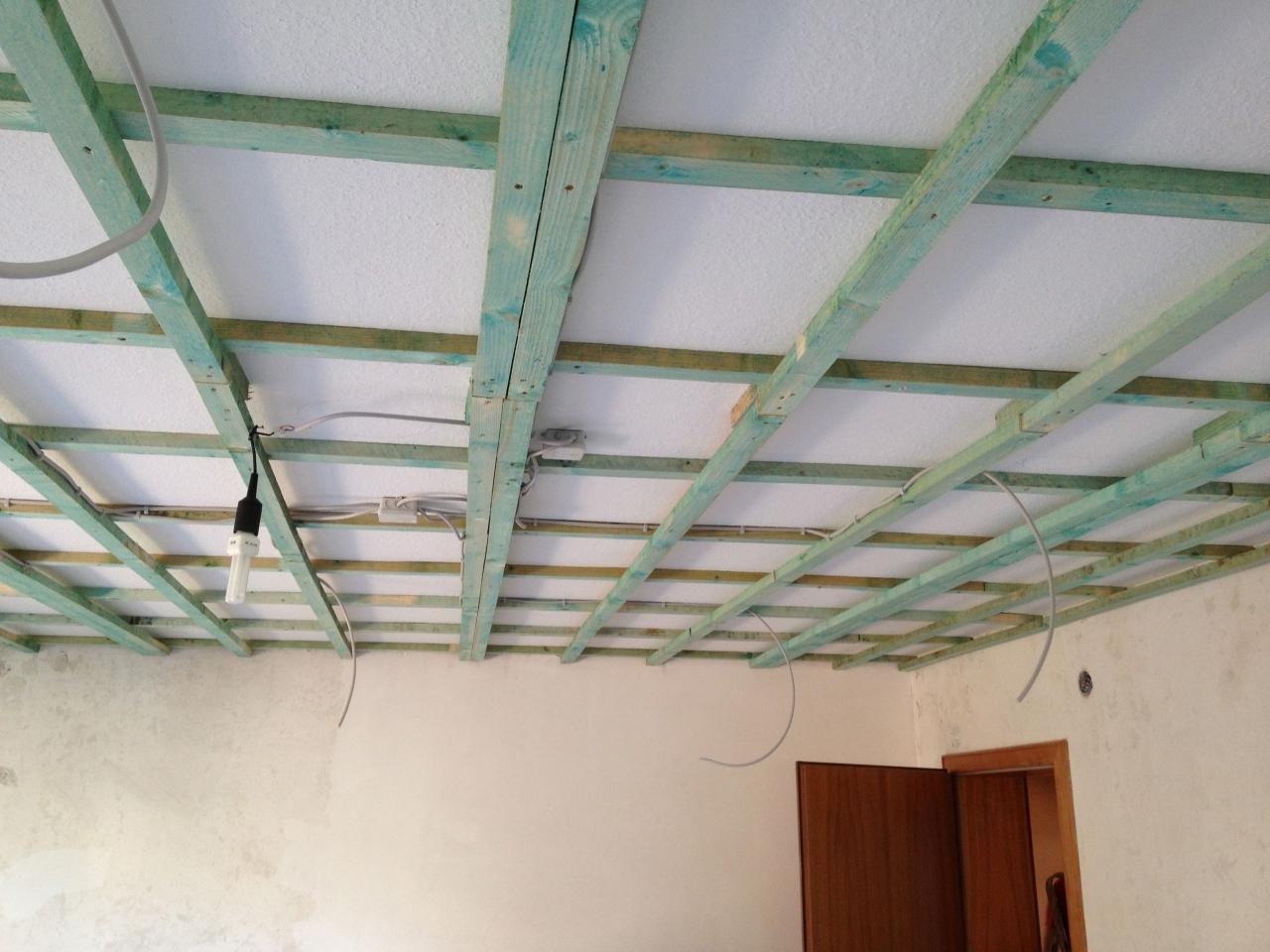Hervorragend Wohnzimmerdecke abhängen und Lichtinstallation - Bauanleitung zum BH17