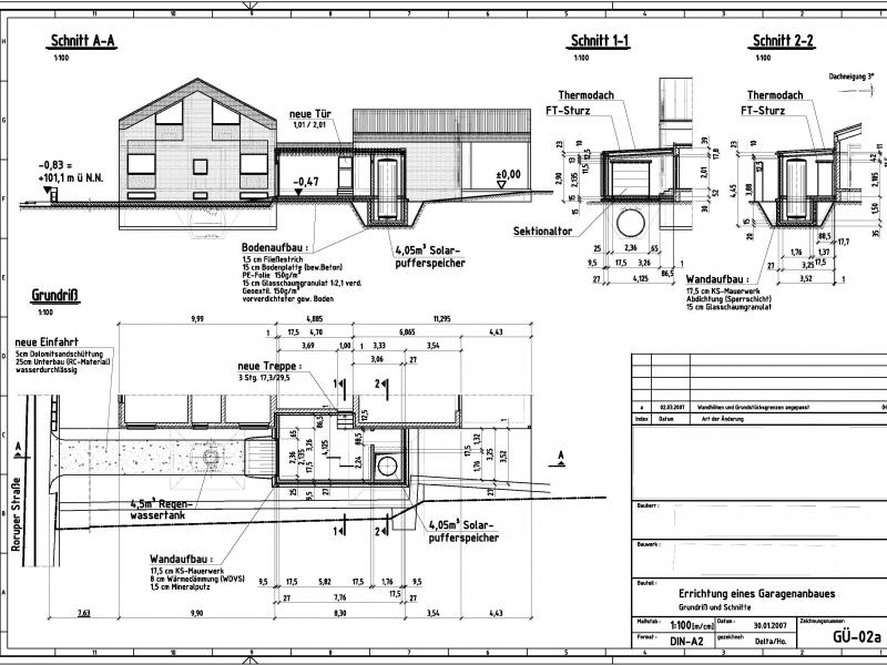 garage anbauen bauanleitung zum selberbauen 1 2 deine heimwerker community. Black Bedroom Furniture Sets. Home Design Ideas