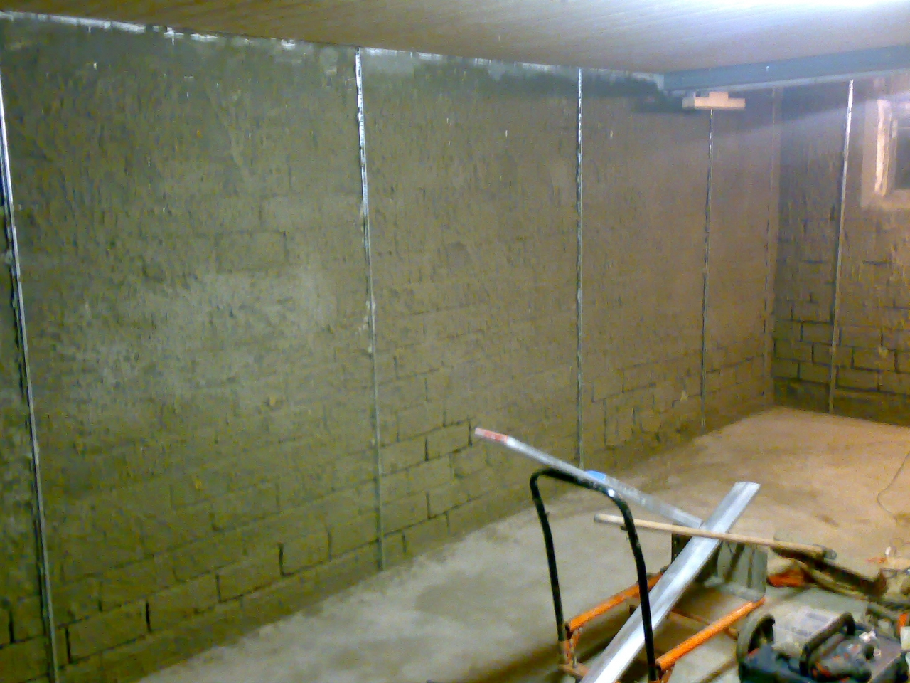 Hervorragend Werkstatt verputzen mit einem Zementputz - Bauanleitung zum HO32
