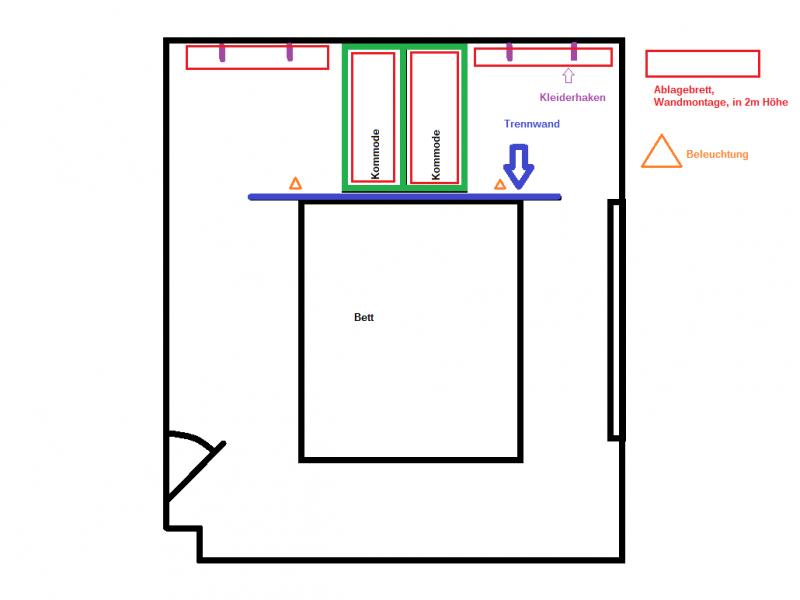 Begehbarer kleiderschrank größe  Begehbarer Kleiderschrank 1.0 - Bauanleitung zum Selberbauen - 1-2 ...