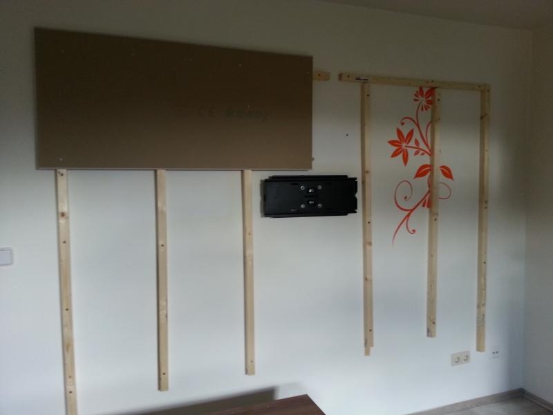Wohnwand tv wand selbst gebaut teil 1 bauanleitung zum selberbauen 1 2 deine - Tv an wand anbringen ...