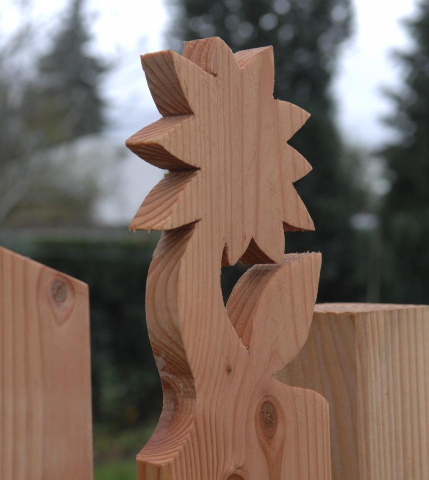 Holz Gartenzaun Elementzaun Mit Zaunkopfen Bauanleitung Zum