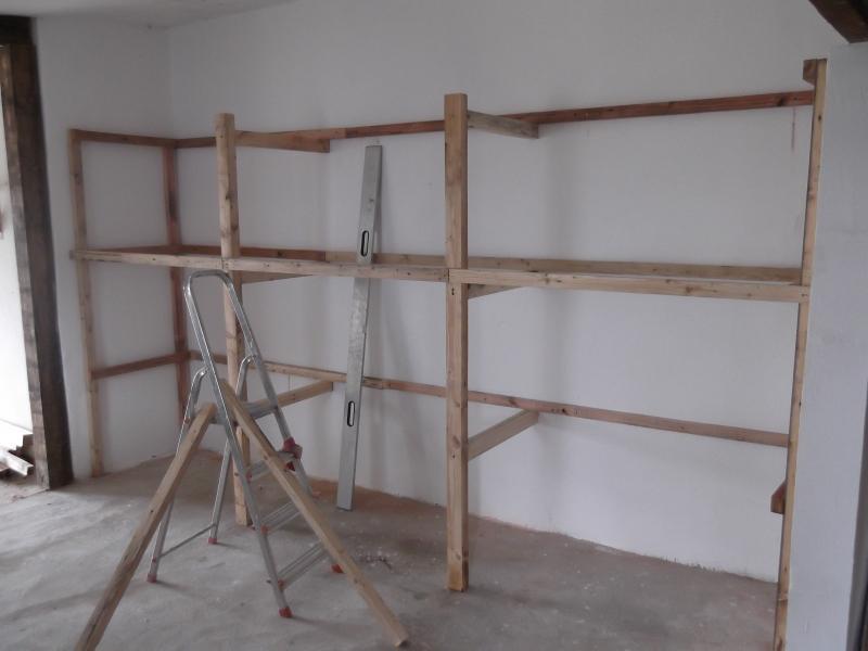 werkstattregal 4m x 2m x 0 80 m bauanleitung zum selberbauen 1 2 deine heimwerker. Black Bedroom Furniture Sets. Home Design Ideas