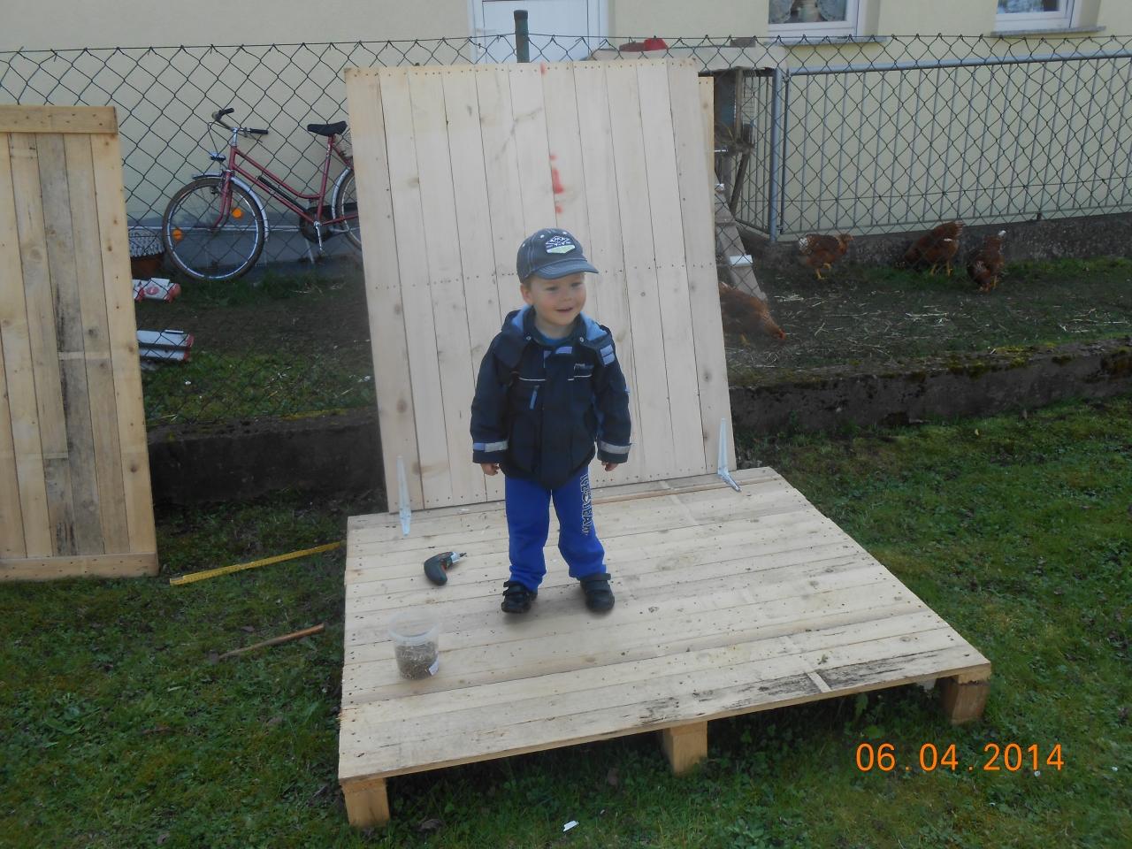 spielhaus für kinder oder recyceln von paletten - bauanleitung zum