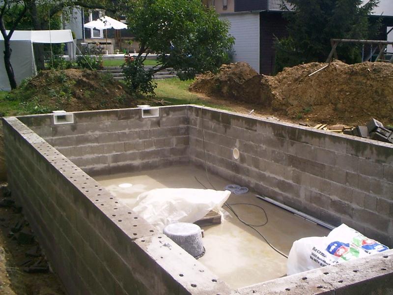 schwimmbad aussenpool selber bauen bauanleitung zum selberbauen 1 2 deine. Black Bedroom Furniture Sets. Home Design Ideas