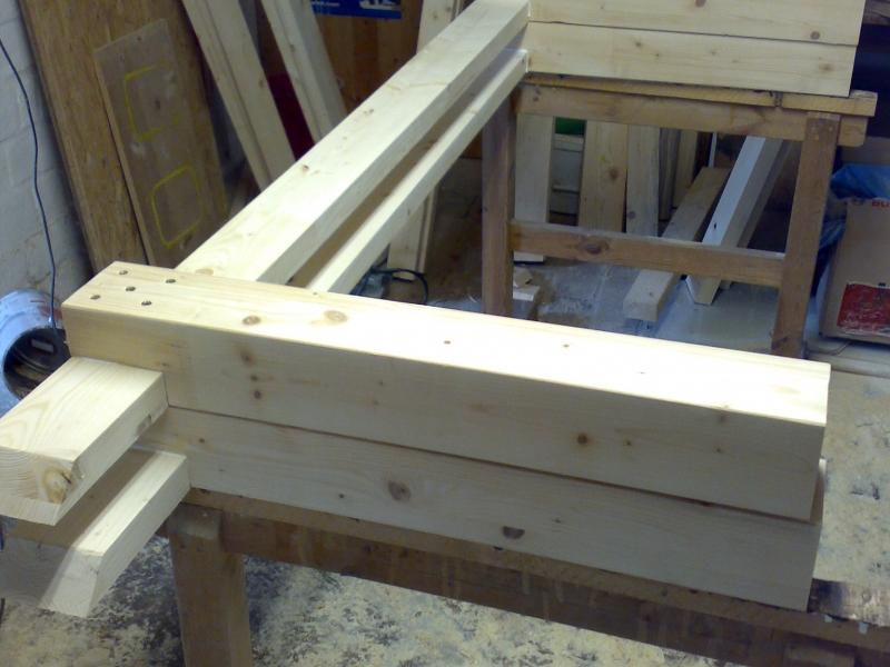 Fichten terassentisch aus leimholz bauanleitung zum selberbauen 1 2 deine for Terassentisch selber bauen