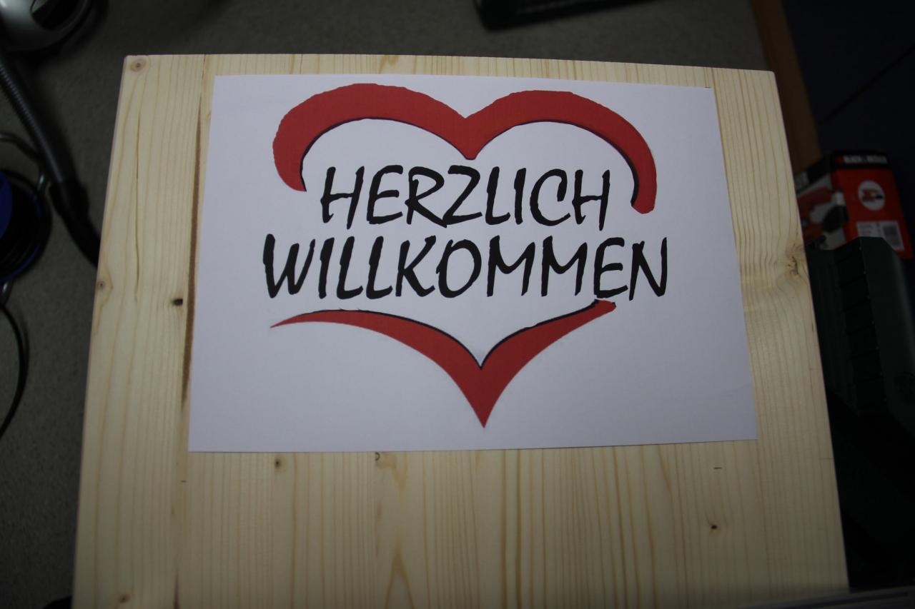 Dremel Trio Willkommen Schild Aus Holz Bauanleitung Zum